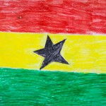 Ghana Flag hand drawn