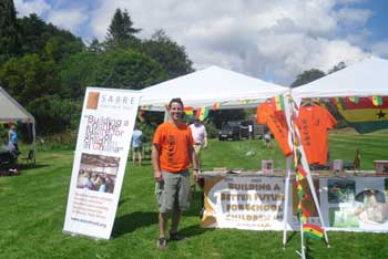 Sabres stand at the Lostwithiel Festival