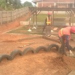 image: tyres in playground