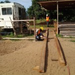image: assembling truss members at Ahobre