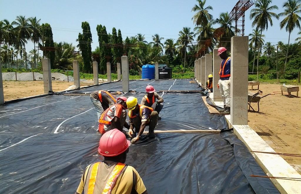 image: laying Damp Proof Membrane