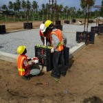 fixing plastic formwork