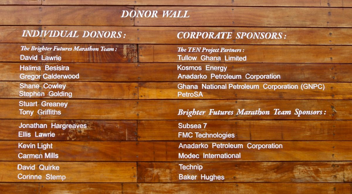 image: donor wall
