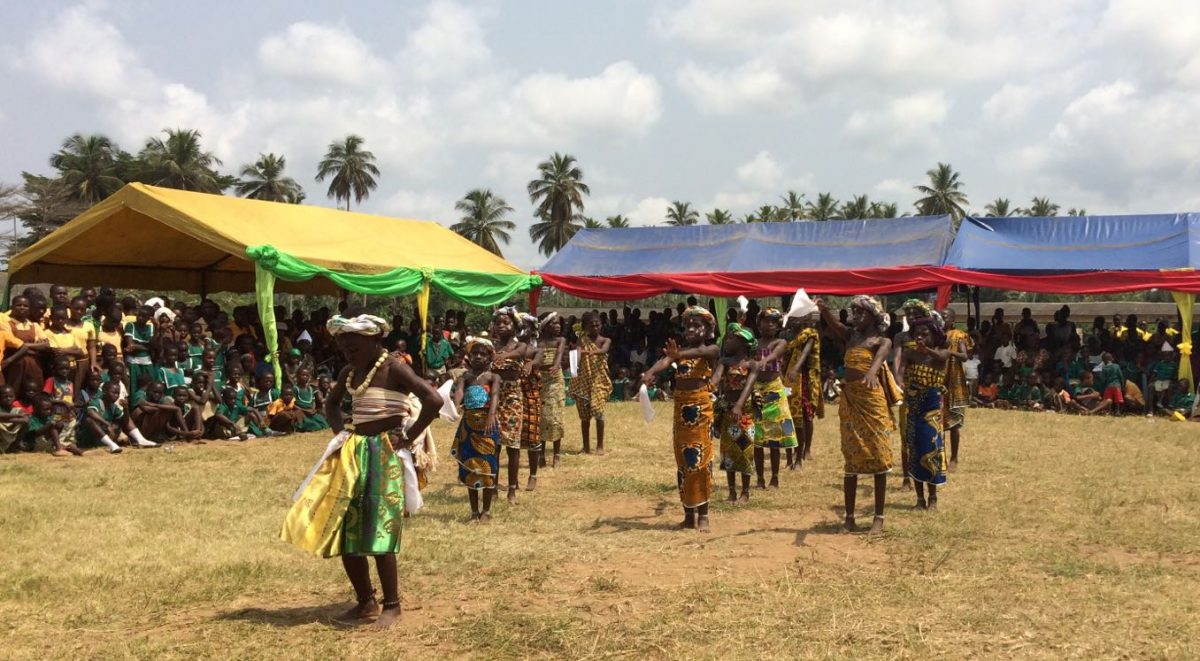 image: ghanaian children performing dance