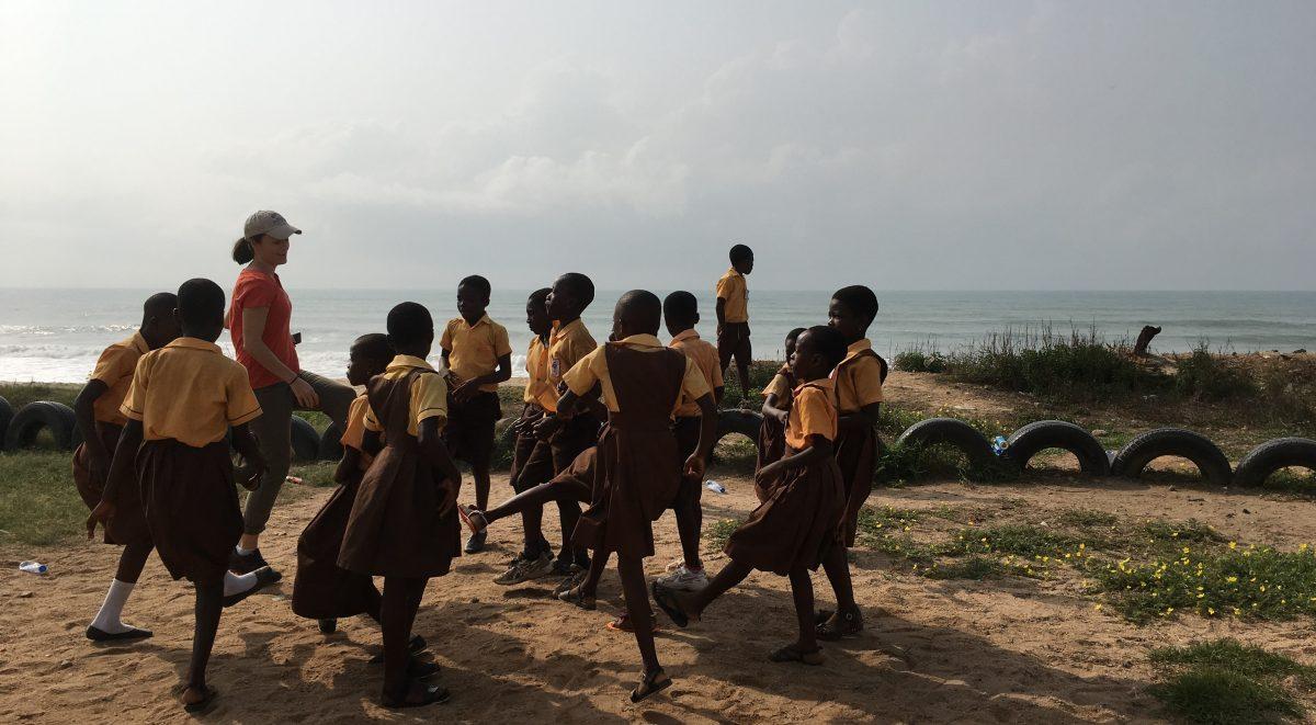 image: comic relief visit ghana