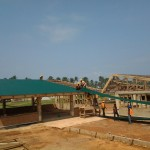 roofing sheet being added