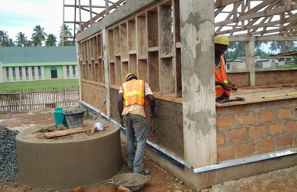 rendering block wall