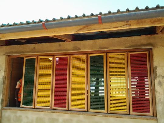 coloured bamboo windows ghana