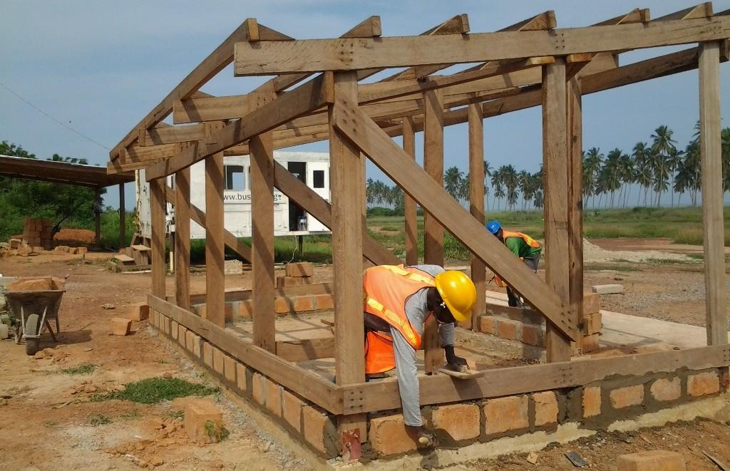 school storage room being built