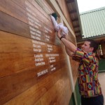 Unveiling of the donor wall