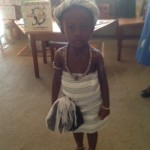 image:ghanian child in traditional dress