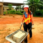 volunteer on construction site