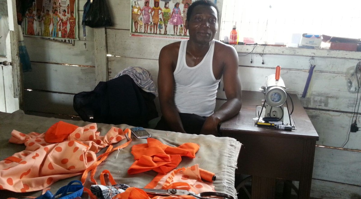 Tailor in shop