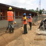 image: fencing being erected